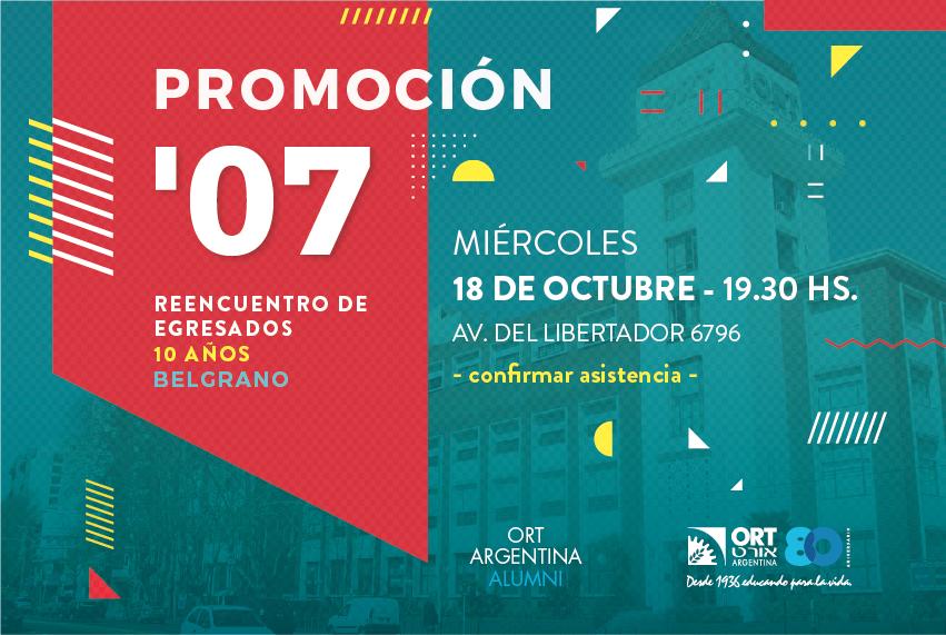 Reencuentro de egresados ORT Belgrano 2007