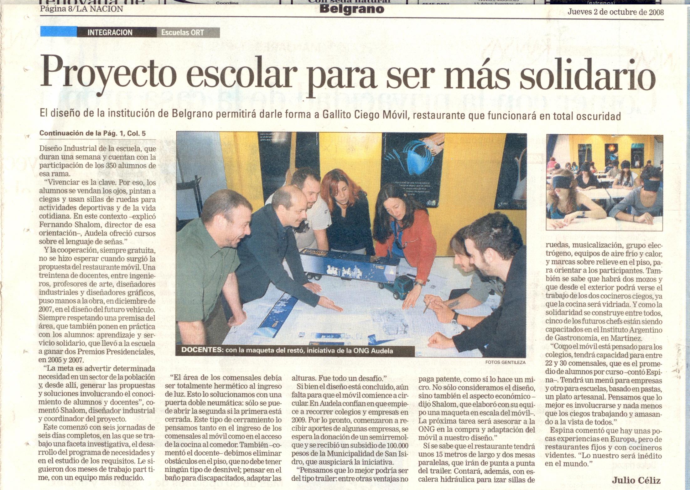 Ort en la naci n proyecto escolar para ser m s solidario for Proyecto restaurante escolar
