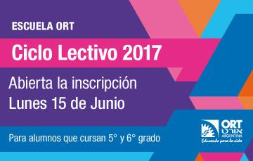 Inscripción al Ciclo Lectivo 2017