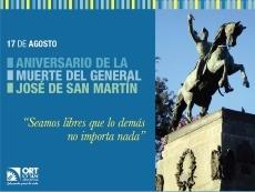 165° aniversario del fallecimiento del Gral. San Martin