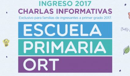Admisión 1° grado 2017 - Charlas Informativas