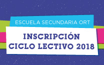 Inscripción Escuela Secundaria Ciclo Lectivo 2018