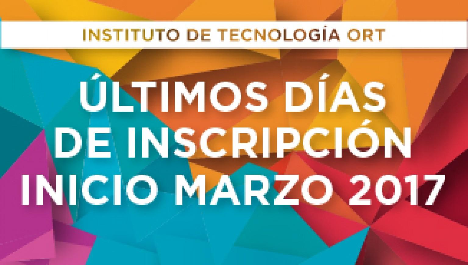 Inscripción Instituto Terciario 2017